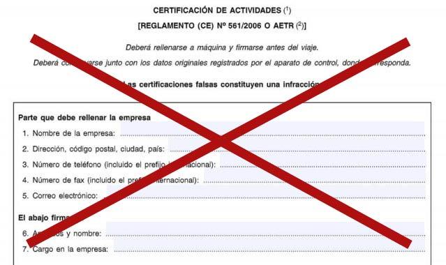 certificado actividades tacografo